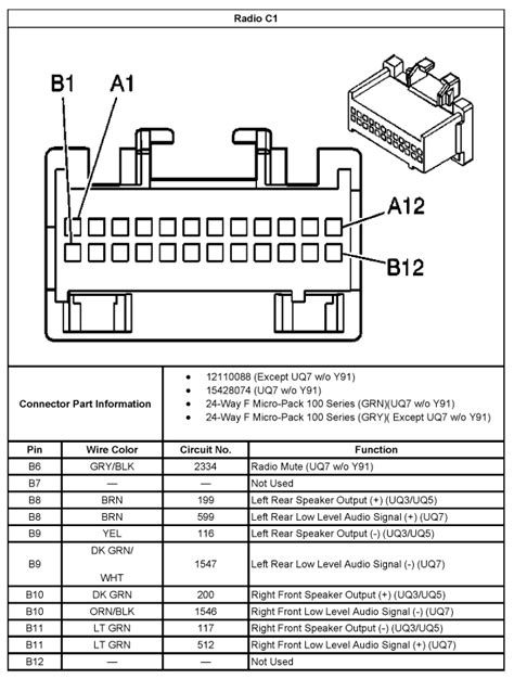 Chevrolet Bose Wiring Diagram Trusted Diagrams