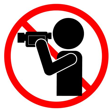 ビデオ撮影禁止|無料イラスト|警告|注意|クリップアート