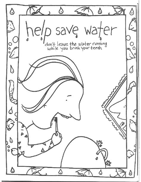 save water educationcoloringpagesconservation