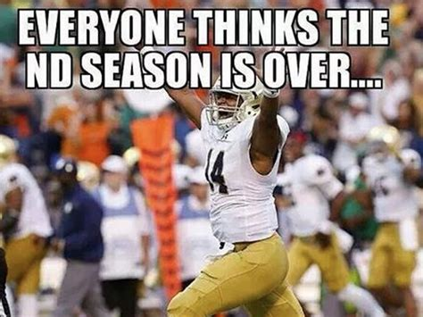 Notre Dame Meme - the 9 best memes fans posted after notre dame s win over georgia tech the spun