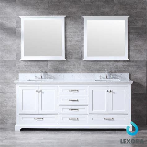 dukes double bathroom vanity white color  mirror