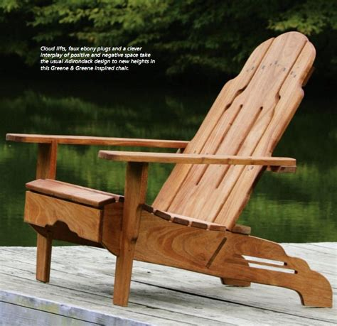 plan de chaise adirondack gratuit greene and greene style adirondack chair plans free woodwork city free woodworking plans