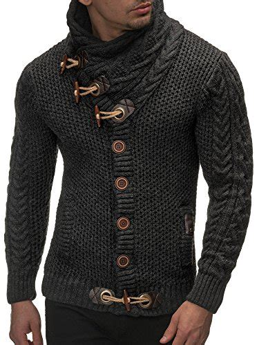 cool sweaters for guys leif nelson 39 s knitted jacket cardigan x large anthrac