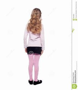 Girl Standing Back Stock Photo