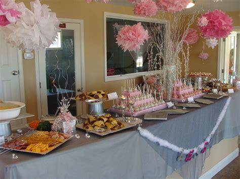 wedding shower food table entertaining   bridal