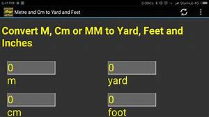 5 4 En Cm : m cm mm to yard feet inch converter tool android ~ Dailycaller-alerts.com Idées de Décoration