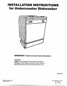 Whirlpool Dishwasher Dishwasher User Guide