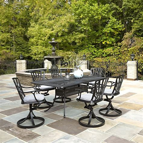 home styles largo 7 patio dining set with cushions