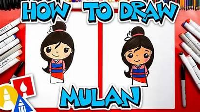 Draw Mulan Hub Artforkidshub Drawing Characters Princess