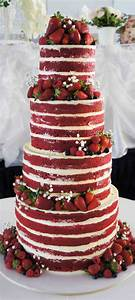 Ruby wedding anniversary cake - naked red velvet cake ...