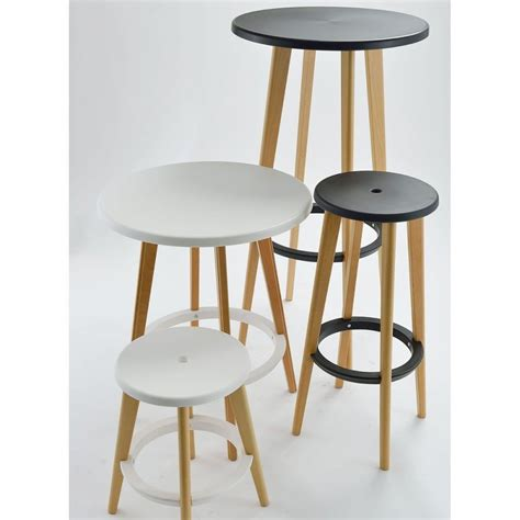 table de bar ronde design blanche harry s by drawer