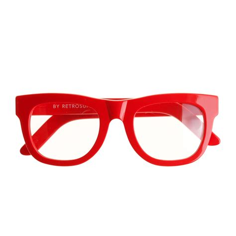 jcrew super ciccio eyeglasses  red diner red lyst