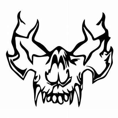 Skull Vampire Vinyl Decal Sticker Truck Drawing
