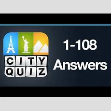 City Quiz Answers Levels 1108 All Levels Youtube