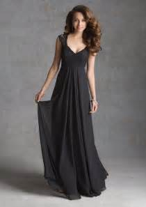 lace cap sleeve bridesmaid dresses floor length black lace detail sheer cap sleeves v neck empire waist