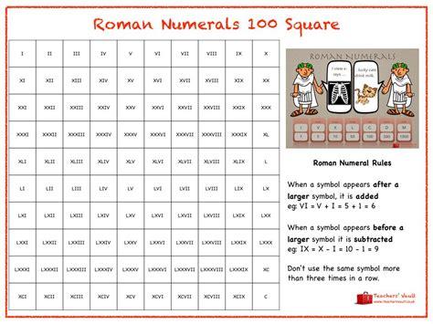numerals hundred square grade 4 math