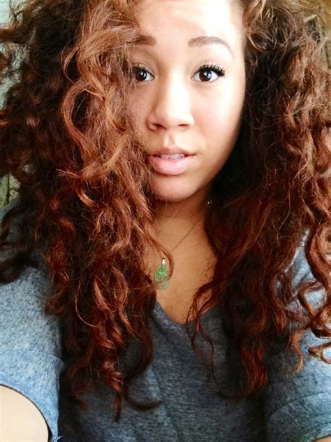 my hair has always been this natural reddish color and