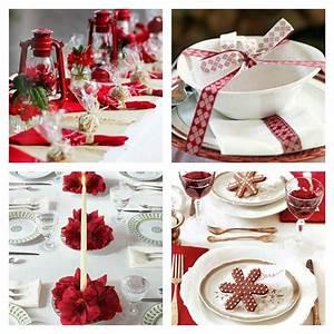 Russir Sa Dcoration Table De Nol Rouge Et Blanc
