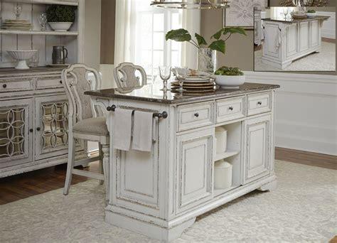 magnolia manor antique white kitchen island set
