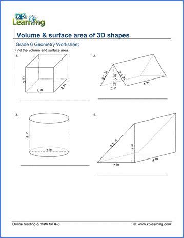 grade  geometry worksheets  printable  learning