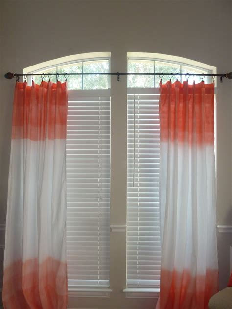 coral and grey curtains ombre dipped sea coral curtain panels 48 on etsy