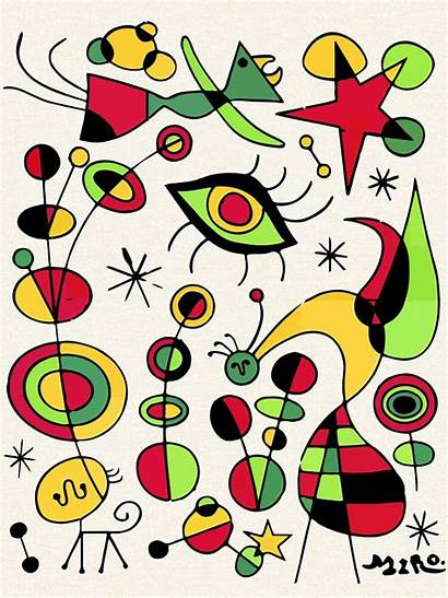 Joan Miro Posters Peces Tshirts Colores Fish