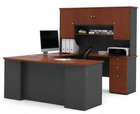 81850 manhattan u shaped desk office suite set bestar