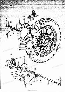 Suzuki Motorcycle 1979 Oem Parts Diagram For Rear Wheel