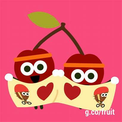 Google Fruit Doodle Games Cherry Gifs Giphy