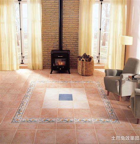 terracotta floor tile 客厅室内地板砖装修图片 土巴兔装修效果图