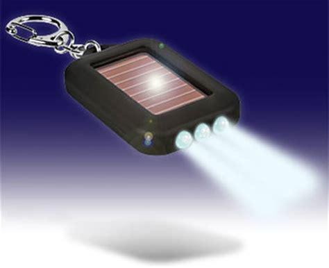 3 led solar powered flashlight keyring