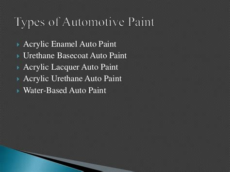 Types, Uses And Benefits Of Automotive Paint
