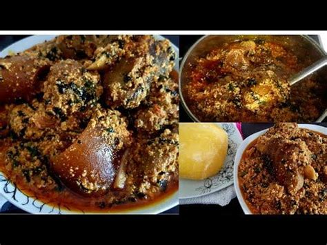 Nigerian egusi soup is a soup thickened with ground melon seeds and contains leafy and other vegetables. Egusi Soup is native to the westerners in Nigeria (The ...