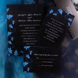 black wedding invitations damask black and blue wedding invitations ewi037 as low as 0 94