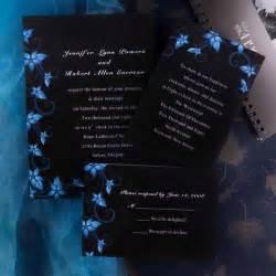 black and wedding invitations damask black and blue wedding invitations ewi037 as low as 0 94
