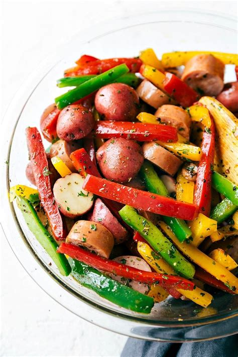 foil pack italian sausage  veggies chelseas messy apron