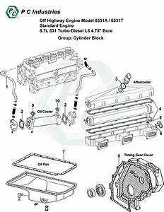 Off Highway Engine Model 6531a    6531t Standard Engine 8