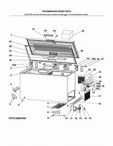 Kenmore 25317812710 Chest Freezer Parts