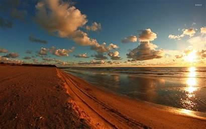 Sunrise Beach Sand Wallpapers Colored Desktop Sunray