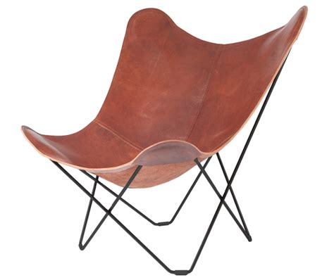 cuero lounge chair butterfly design lounge