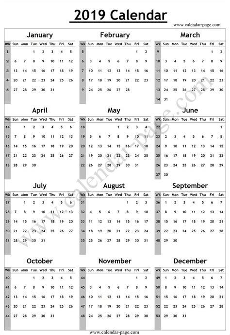 calendar week numbers calendar yearly template