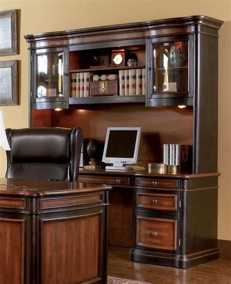 credenza desk with hutch gorman home office credenza hutch 800500 800501 from