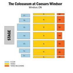 the colosseum at caesars windsor seating chart the