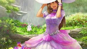 fond ecran anime girls happy lapin rabbits wallpaper hd ...
