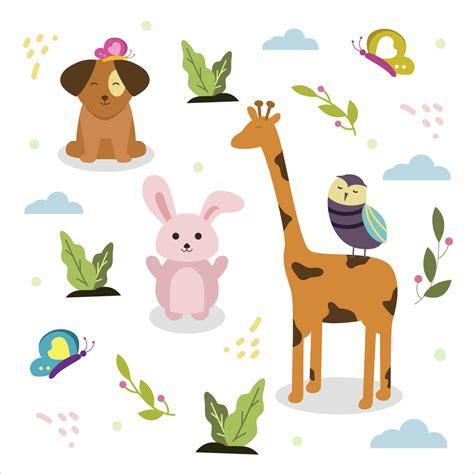 Cute Animals Friend Vector - Download Free Vector Art