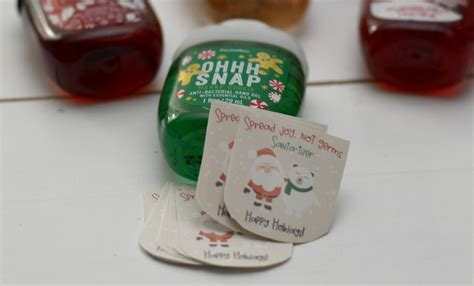 hand sanitizer holiday gift printable building  story