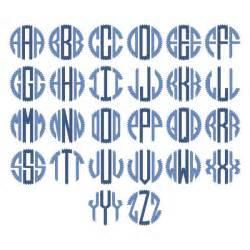 Free Circle Monogram Font SVG