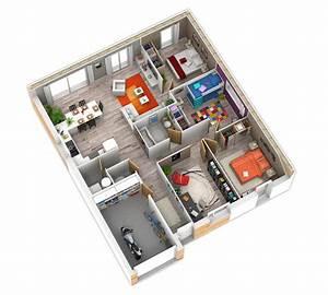 Plan Interieur Maison : plan maison bois mod le natirena terre de soleil natilia ~ Melissatoandfro.com Idées de Décoration