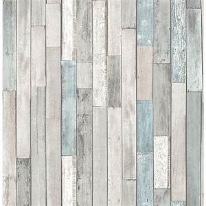 Brewster barn board grey thin plank wallpaper fd23273 for Kitchen cabinets lowes with papier peint papillons