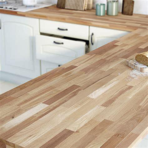 plan de travail cuisine bambou plan de travail bois chêne huilé satiné l 300 x p 65 cm